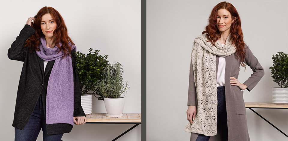 Click here to shop the newest scarf and shawl kits from Valley Yarns.