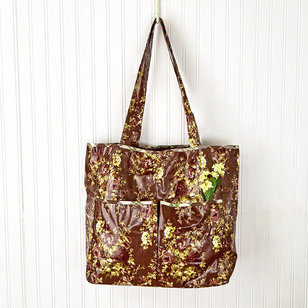 Cottage Rose Oil Cloth Anything Tote
