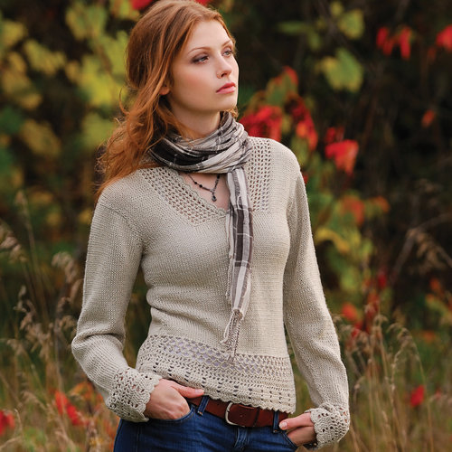 View larger image of Crochet Trim Hoodie