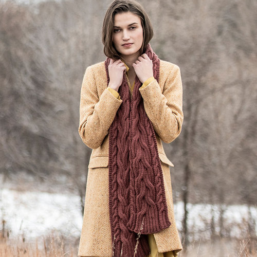 View larger image of Edina Cabled Scarf Kit