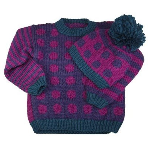 View larger image of A184 Dots & Stripes Sweater & Hat (Free)