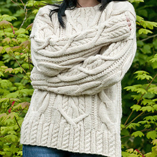 C186 Cable Lover's Pullover (Free)