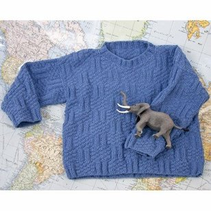 DK185 Fixation Knits and Purls Textured Sweater (Free)