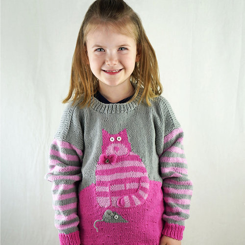 View larger image of DK601 Cat & Mouse Sweater (Free)