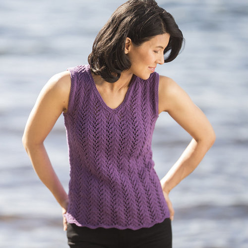 View larger image of DK610 Summertime Lace Tank (Free)