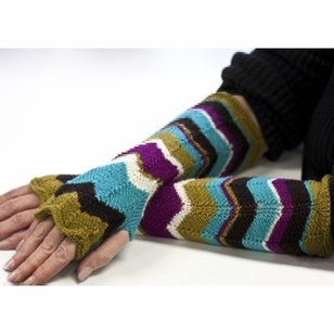 FW170 220 Fingering A New Day Fingerless Arm Warmers (Free)