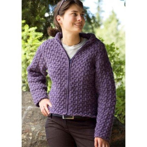 View larger image of W227 Cabled Hoodie (Free)