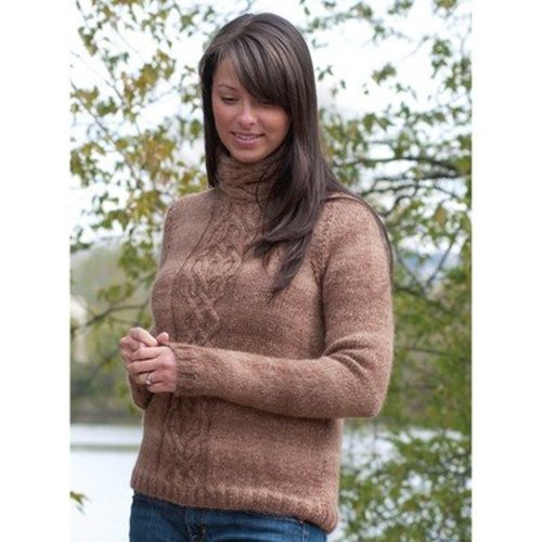 View larger image of W335 Cabled Pullover (Free)