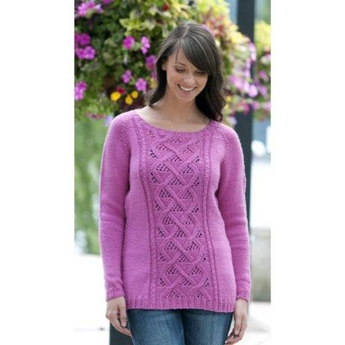 View larger image of W405 Winter Rose Sweater (Free)