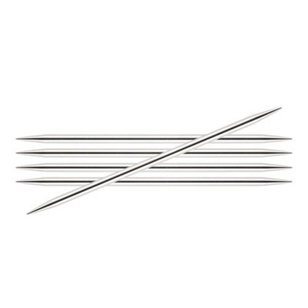 6 Inch Silverlite Double Pointed Needles