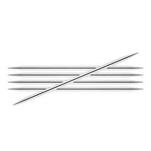 8 Inch Silverlite Double Pointed Needles