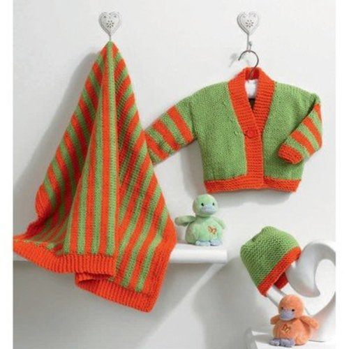 View larger image of Jessica Cardigan, Hat, and Blanket PDF