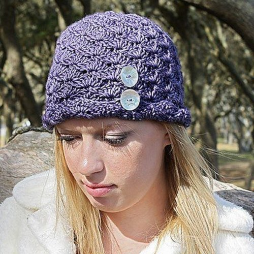View larger image of Fiona Hat & Fingerless Mitts PDF