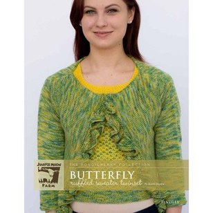 Butterfly Ruffled Sweater Twinset - The Pondicherry Collection