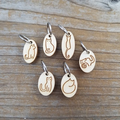 View larger image of Wooden Stitch Markers Set