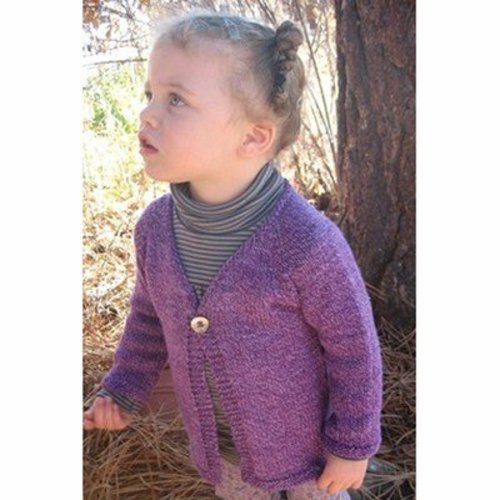 View larger image of 296 Girl's One Button Cardigan