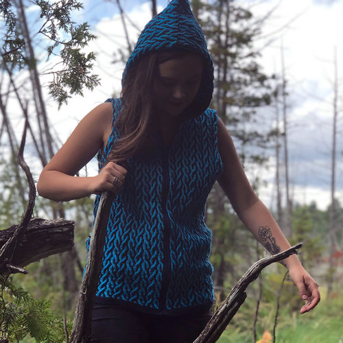 View larger image of Cabled Hoodie PDF