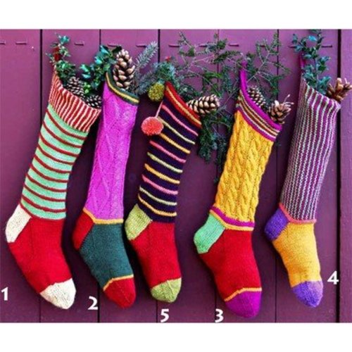 View larger image of Colorful Christmas Stockings PDF
