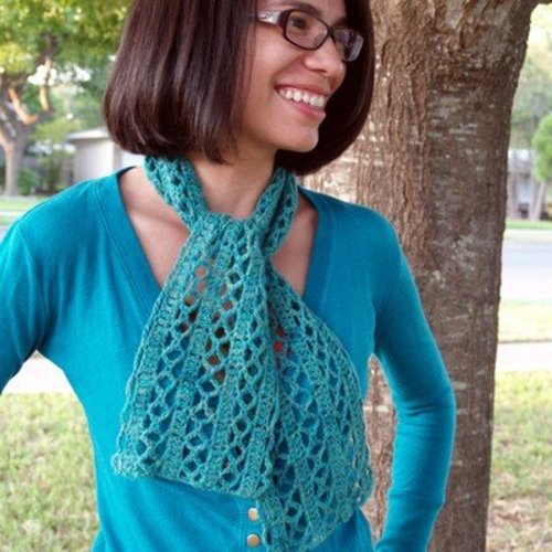 View larger image of Diamond Lace Scarf PDF