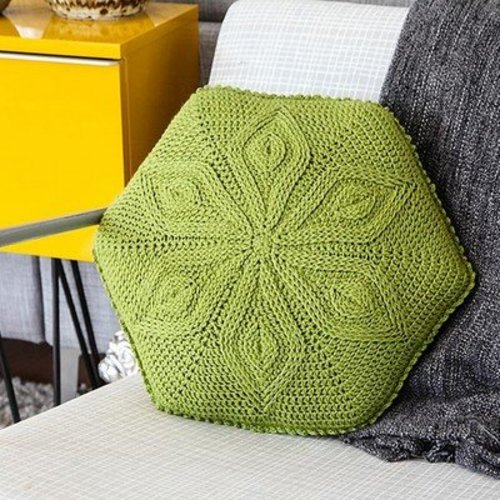 View larger image of Hexagon Flower Pillow PDF