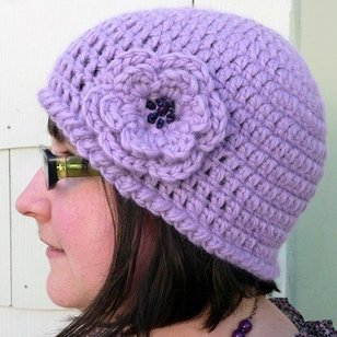 Quick and Simple Crochet Hat with Flower PDF