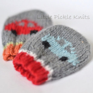 Little Cars Baby Mitts PDF