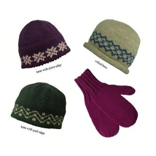 View larger image of Straight Needle Hat & Mittens