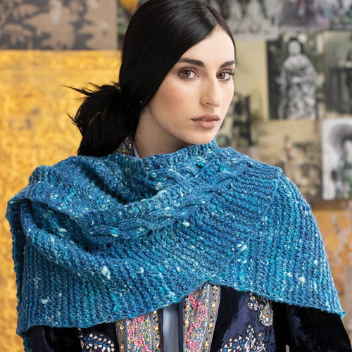 View larger image of 1711 Simple Cabled Shawl PDF