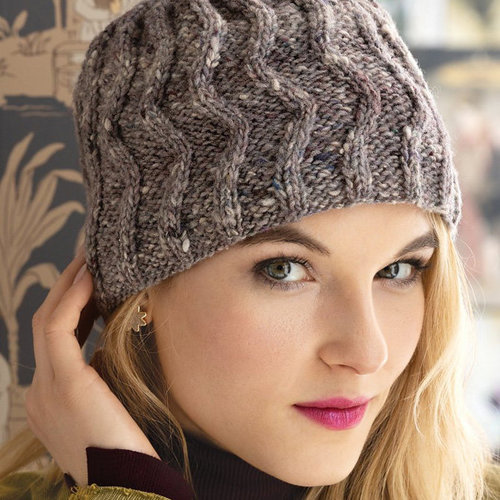 View larger image of 1714 Zig Zag Cable Hat PDF