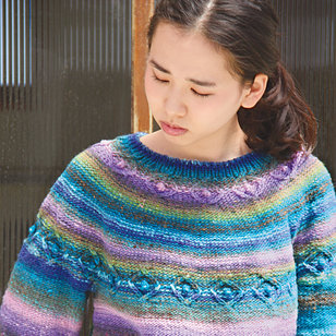 1324 Cable Yoked Pullover PDF