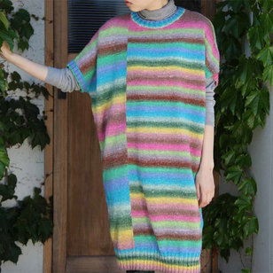 1335 Long Sweater and Cowl PDF