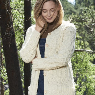 0218S Nordic Wool Women's Cabled Jacket (Free)