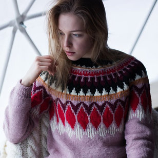 0618T 7 Brothers/Nordic Wool Women's Yoke Pullover (Free)