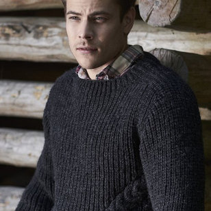3318T Natura Men's Cabled Pullover (Free)