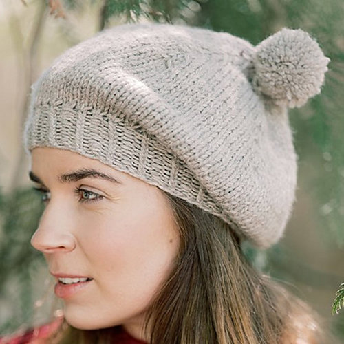 View larger image of Marja Beret in Nordic Wool (Free)