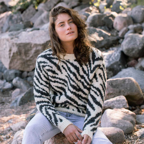 View larger image of Women's Zebra Pullover in Natura (Free)