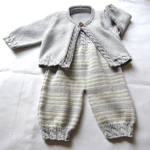 P037 Baby Overalls and Cardigan PDF