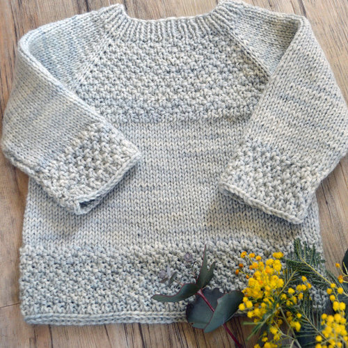 View larger image of P137 Silver Gum Top Down Sweater PDF