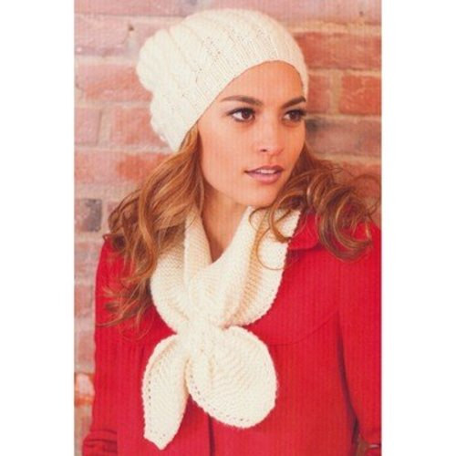 View larger image of 2745 Woman's Cable Hat and Keyhole Scarf