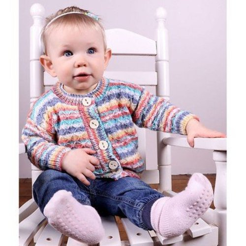 View larger image of 3014 Baby's Quilted Lattice Cardigan