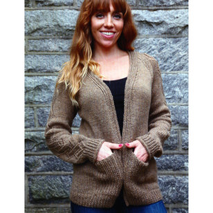 3054 Women's Cable and Lace Cardigan