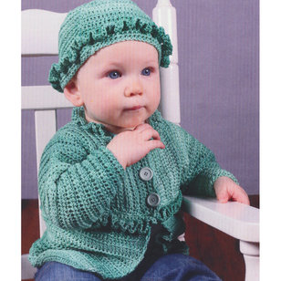 3088 Crochet Baby Cardigan and Hat