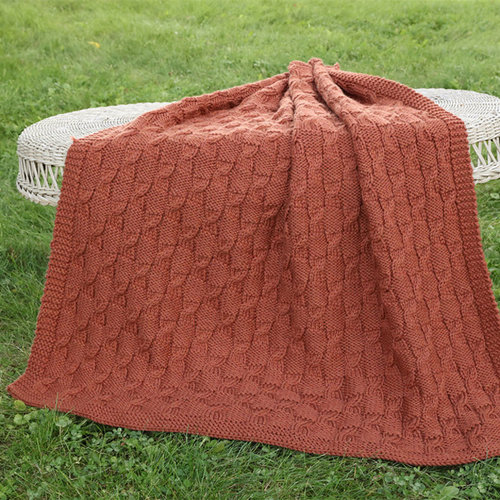 View larger image of 3223 Chunky Merino Superwash Minicable Throw
