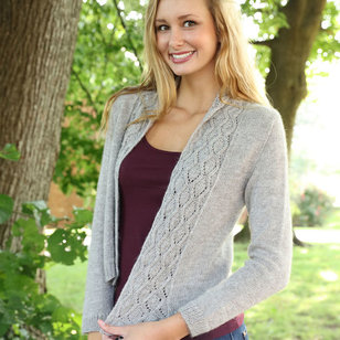 3228 Open Front Lace Cardigan