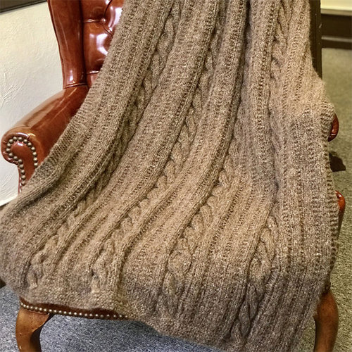 View larger image of 3284 Cabled Afghan PDF