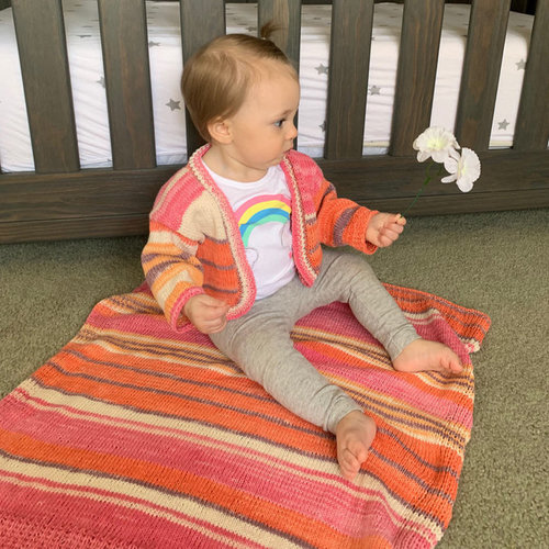 View larger image of 3341 Baby Shrug and Blanket PDF