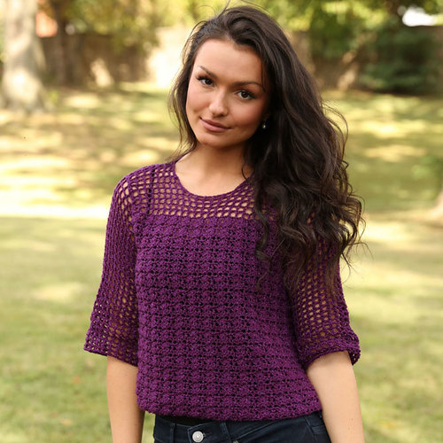 View larger image of 3357 Shell and Openwork Crochet Pullover PDF
