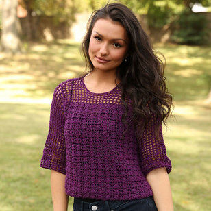 3357 Shell and Openwork Crochet Pullover PDF
