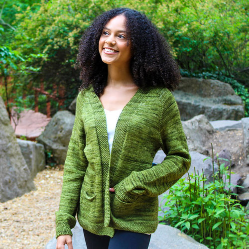 View larger image of 3389 Open Front Cardigan PDF