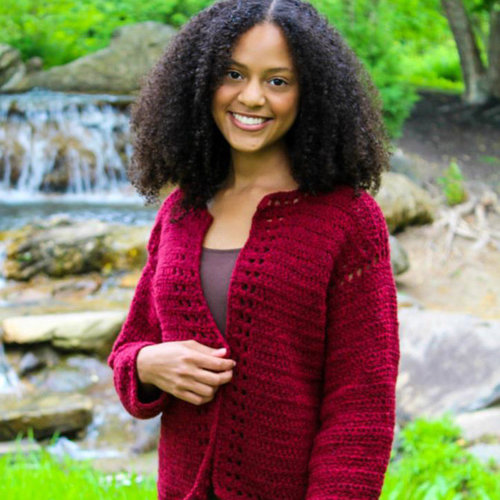 View larger image of 3416 Crocheted Cardi PDF